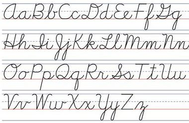 Printables Images Of All Alphabet Cursive Letter all letters in cursive scalien the scalien